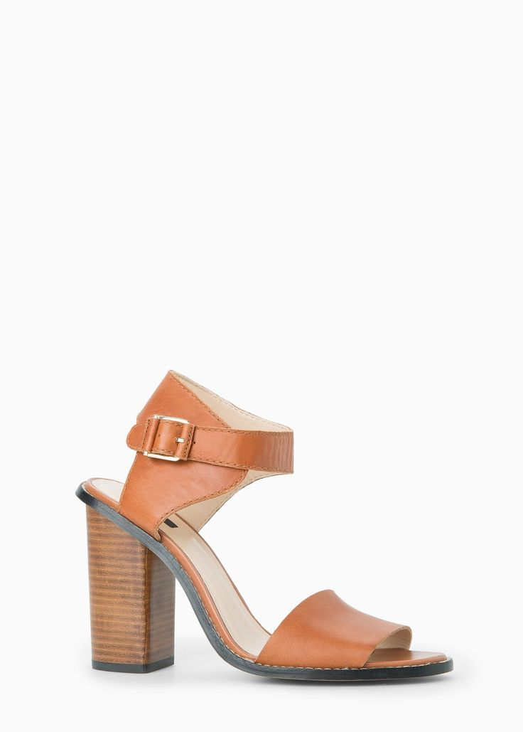 Ankle-cuff leather sandals
