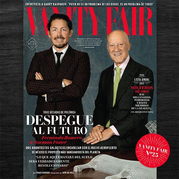 Diseñando un futuro. Los arquitectos Fernando Romero y Norman Foster rompen esquemas y hablan de cómo transformarán el negocio de la aviación en México en Vanity Fair Mayo. No te pierdas más detalles, en estos momentos, en el programa de Ciro Gómez Leyva, en 104.1 FM de Radio Fórmula.