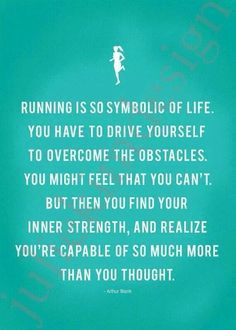 My friends inspiring me to run has not only been good for my health, but has also helped me work on developing my inner strength....
