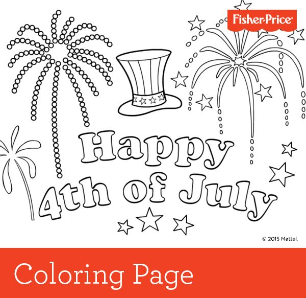coloring pages 4 of july - photo#38