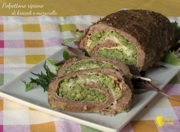 Polpettone+ripieno+di+broccoli+e+mozzarella+(ricetta+sfiziosa)