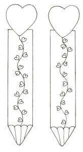 Kalpli Kitap Ayracı Serbest Etkinlik Bookmark Craft Heart