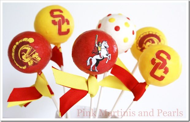 Pink Martinis And Pearls Usc Cake Pops