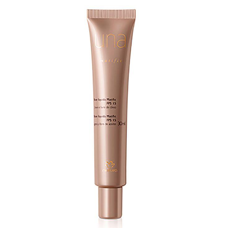 Base Líquida Matific FPS15 Una - 30 ml |   A Base Líquida Matific controla e reduz a oleosidade da pele por até 8h, garantindo uniformidade e um efeito natural ao longo do dia com proteção FPS 15. Afinal o seu rosto não tem nada para esconder, só para revelar.