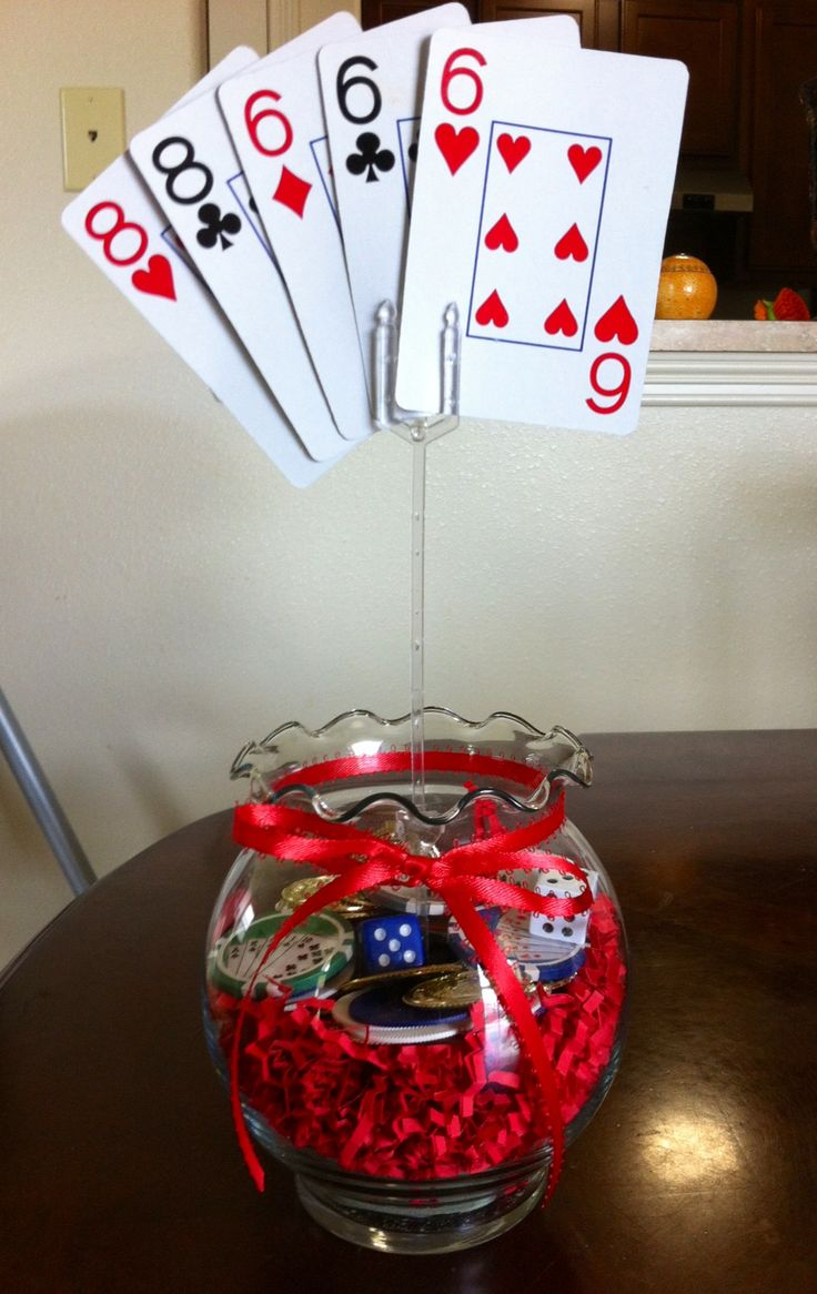 Best casino themed centerpieces ideas on pinterest