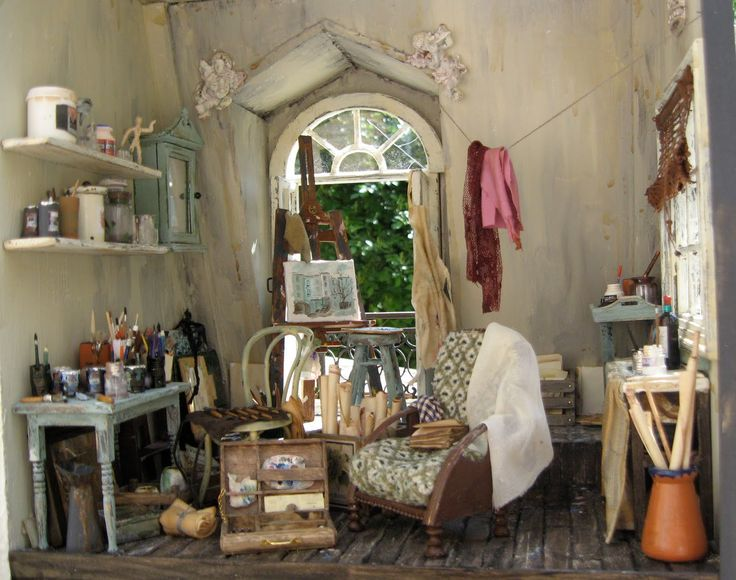 Lotjesdollshouse  They left the building  Find this Pin and more on  DOLLSHOUSE   INTERIORS  3011 best DOLLSHOUSE   INTERIORS   ACCESSORIES  images on  . Dolls House Interiors. Home Design Ideas
