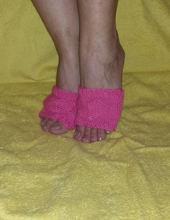 Pink FLIP FLOP SOCKS Hand Made With Valentines by BareWolfSocks