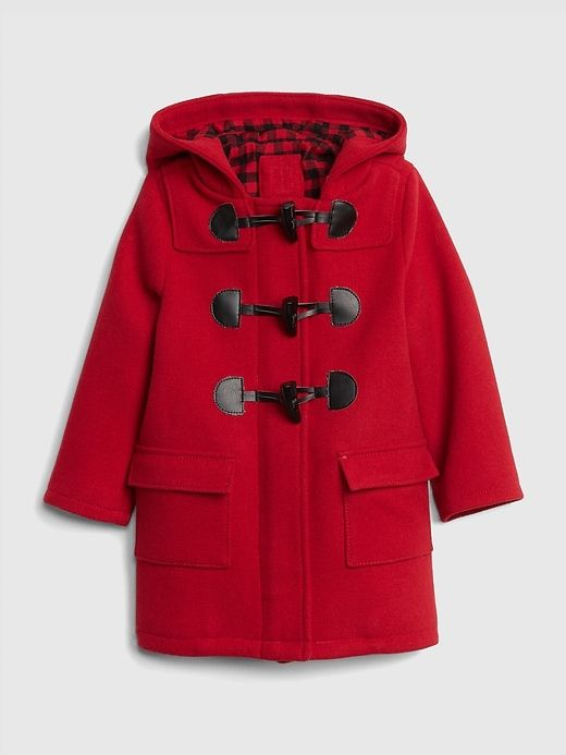 5c61eeb2d Gap Baby Flannel-Lined Duffle Coat Modern Red | Products | Girls ...