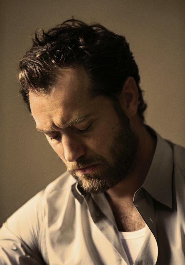 Джуд Лоу в The New York Times Style Magazine lindo de barba
