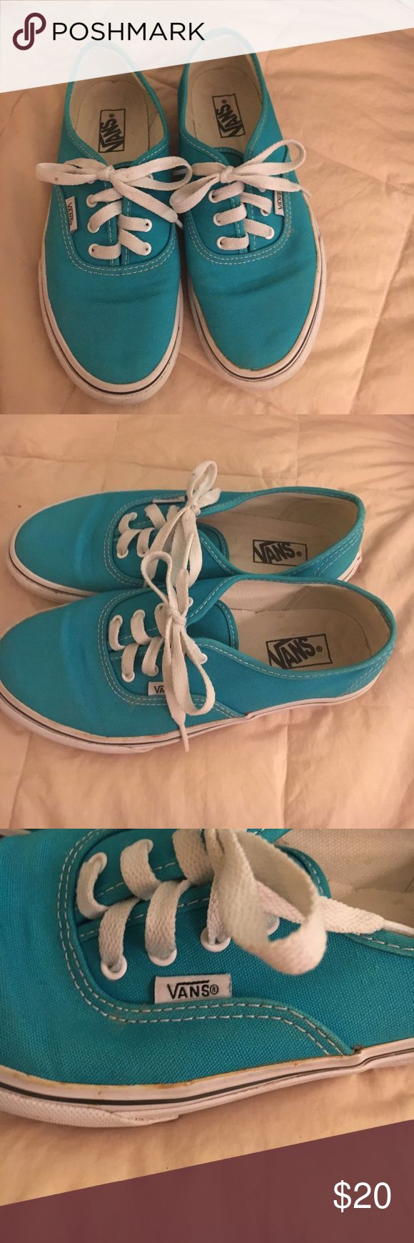 Turquoise Vans tennis shoes youth size 2.5 Turquoise Vans tennis shoes youth size 2.5 used Vans Shoes Sneakers
