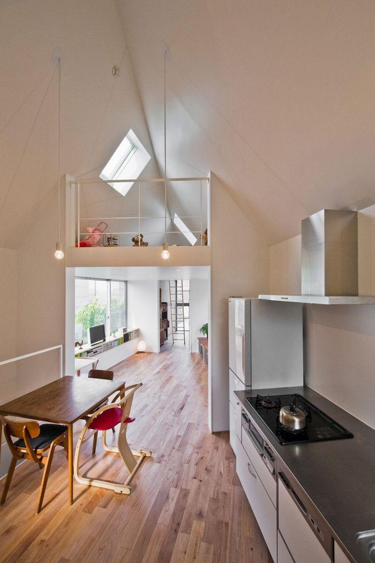 Interior narrow-tiny-house-2 by Mizuishi Architect