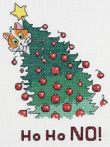 Cat and Christmas Tree Pic