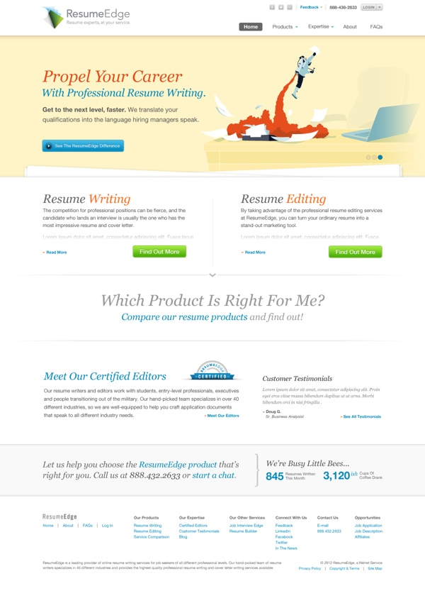 ResumeEdge Rebrand by Brandon Moller, via Behance Products I - resume edge