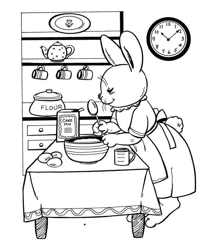 12 best baking images on pinterest baking bread making for Baking coloring pages