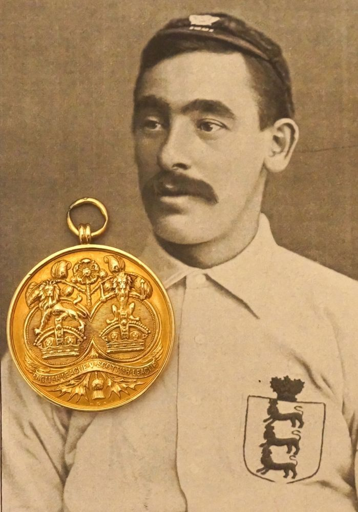 15ct Gold Football Medal. England v Scotland 1897. Everton Legend Edgar Chadwick    eBay