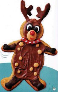Reindeer Gingerbread Cookies | AllFreeKidsCrafts.com