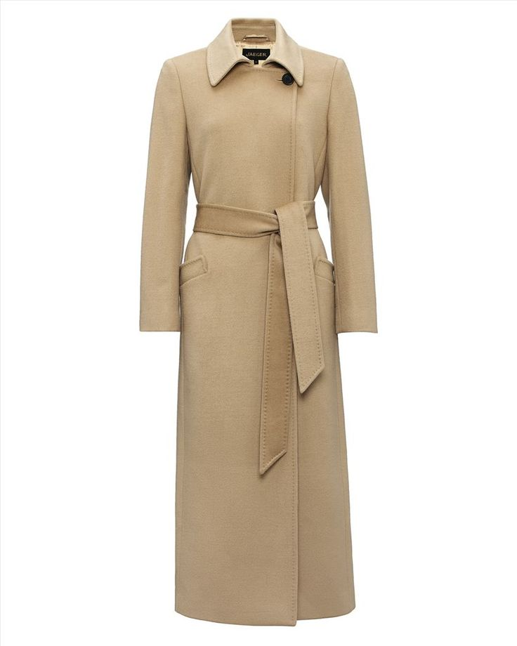 Jaeger Wool Long Belted Coat