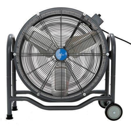 iLIVING 24 inch Bldc Air Circulator High Velocity Floor Fan, 115V, Black