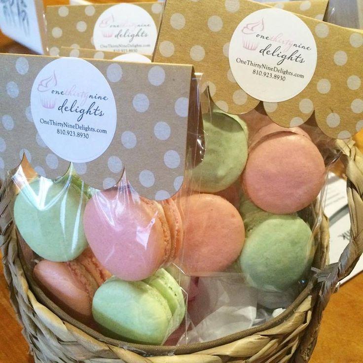 French macaron packaging …