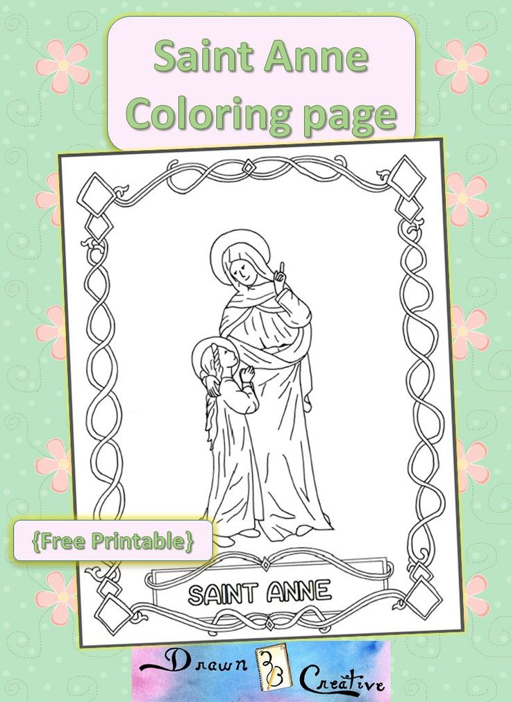 Saint Anne Coloring Page Catholic