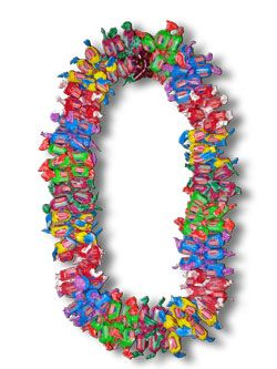 GIANT DUBBLE BUBBLE CANDY LEI. Order at www.BuyGraduationLeis.com. This is a favorite Graduation Lei and Birthday Lei.