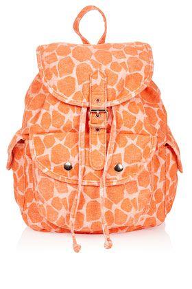 Denim Giraffe Backpack
