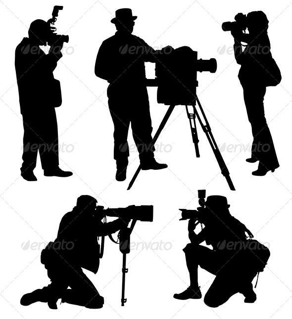 Photographer Silhouette Silhouette People Silhouette Photographer