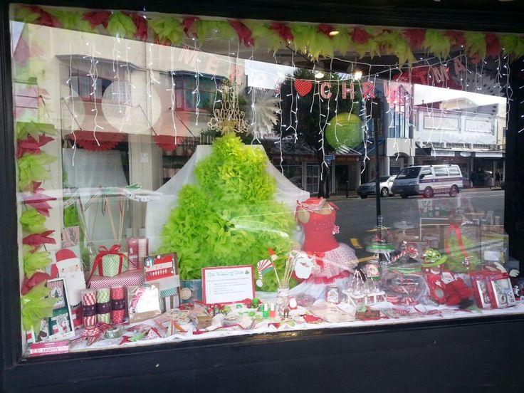Christmas window at Build a Birthday Wellington