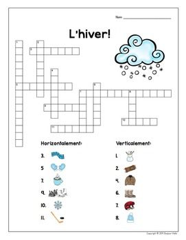 FRENCH WINTER NOUNS: DOMINOES, VOCABULARY ACTIVITIES, AND WORD WALL CARDS - TeachersPayTeachers.com