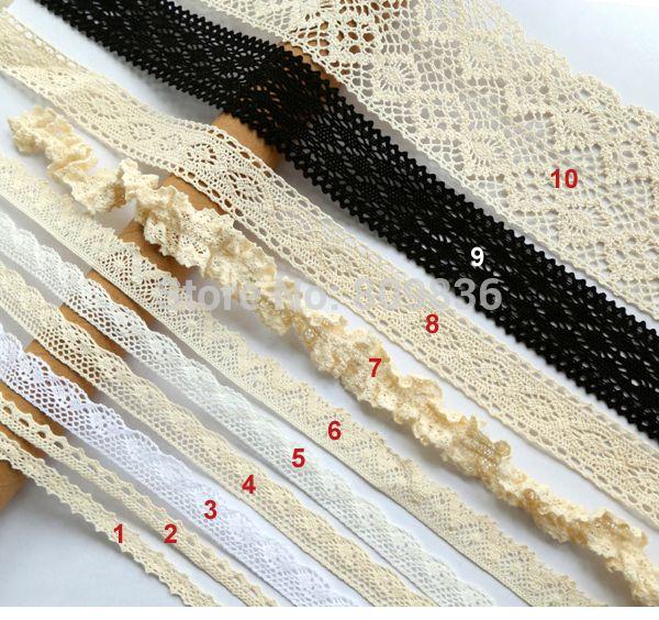 Классический шнурок хлопка для одежды украшения скрапбукинг кружева отделка кружевом для поделок швейная фурнитура ( ss 815 ) купить на AliExpress