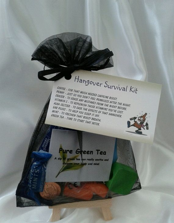 Little BAG of BITS: Hangover Survival Kit male by CheerUpCrafts
