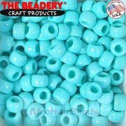 The Beadery HaarKralen 9x6mm Licht Turquoise