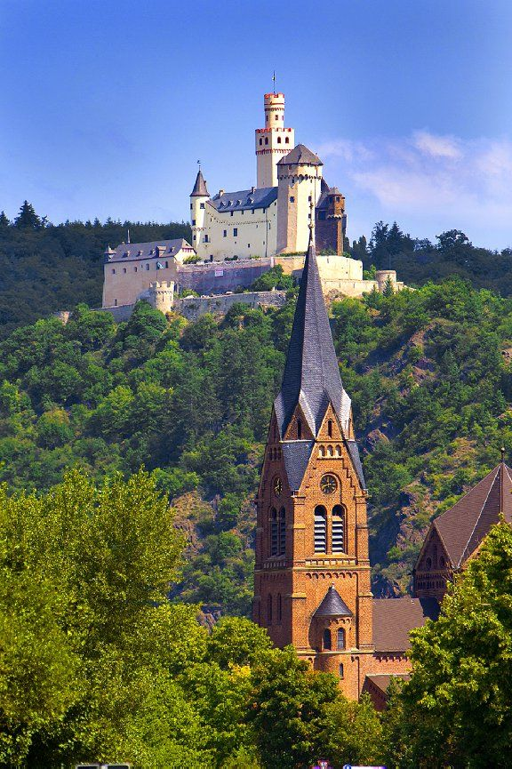 13387.  Marksburg Castle above the Rhine River, Germany - Jim Zuckerman…