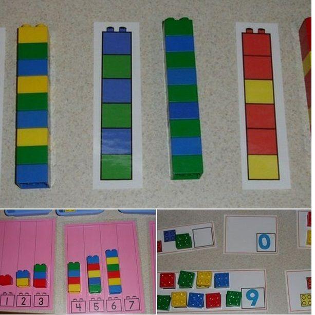Составление лего-блоков по образцу.