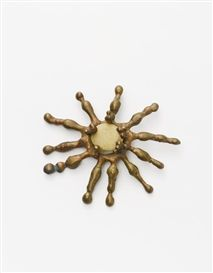 Artwork by Ibram Lassaw, PENDANT, Made of bronze and stone