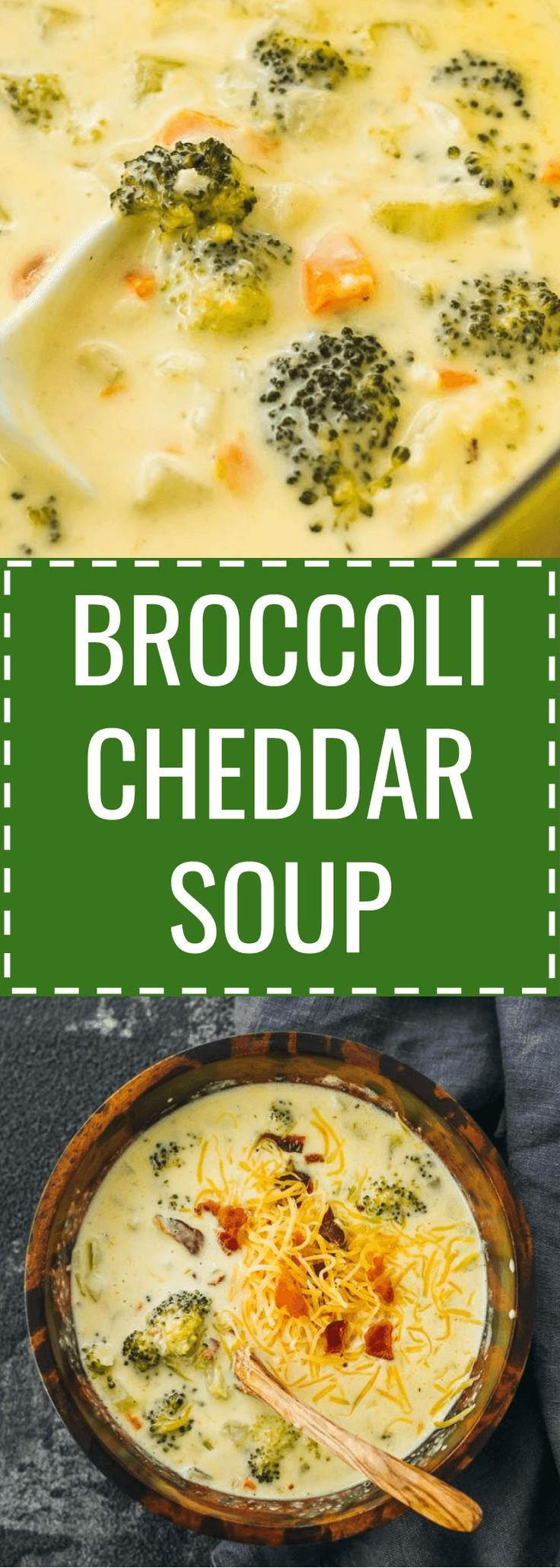 Broccoli cheddar soup - It's easy to make a broccoli cheddar cheese soup from scratch. Healthy and low carb. panera / keto / low carb / diet / atkins / induction / meals / recipes / easy / dinner / lunch / foods / healthy / gluten free / paleo / recipe / best / creamy / homemade / copycat / sides / stove top / simple / copy cat / light / how to make / clean / for a crowd / with bacon / chunky / loaded / meal / no flour / dutch oven / families / cooking / winter #soup #keto