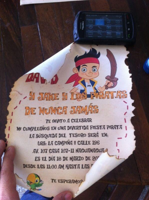 jack y los piratas invitacion - Buscar con Google