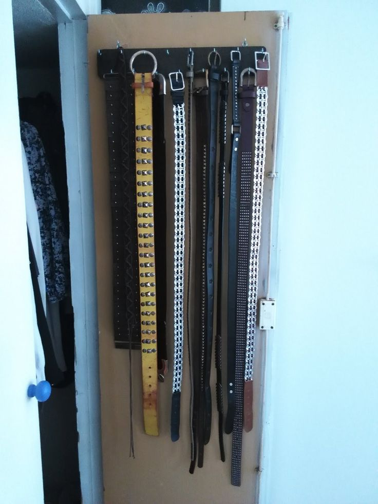 La de los truquillos: Organizador de cinturones.