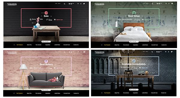 Concept UX/UI for a local furniture store.