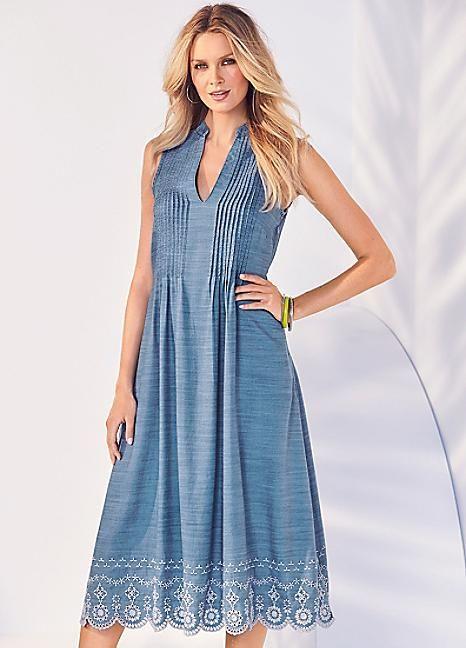 Embroidered Midi Dress #kaleidoscope #hot #summer #heat