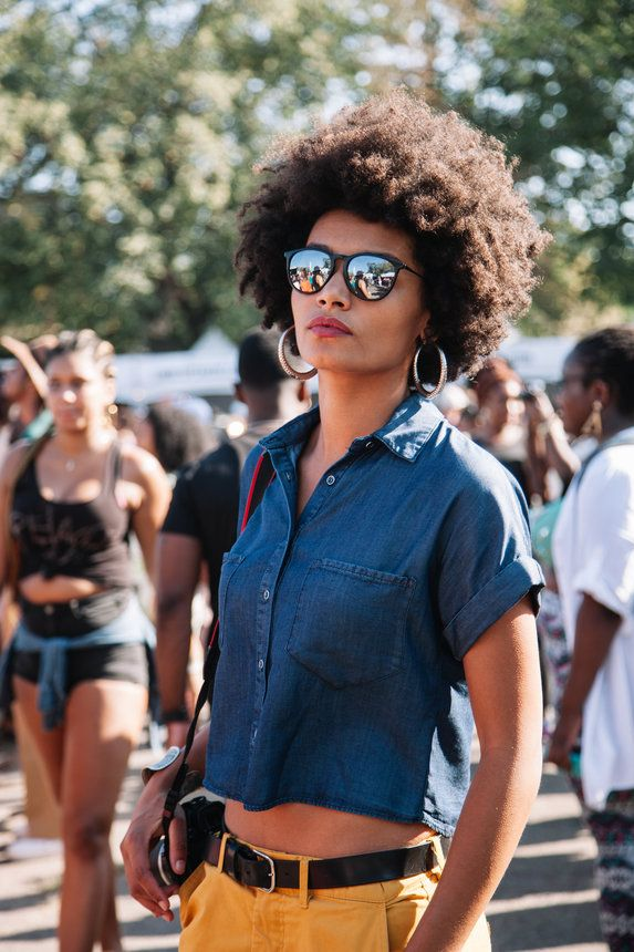 afro punk 2016 | afro hair, kinky hair, natural hair, frizzy hair, | Photo by Denisse Benitez