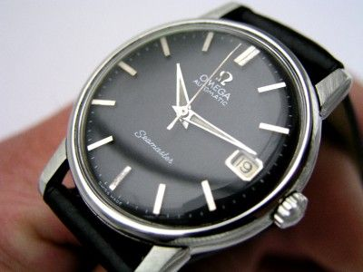 1965 VINTAGE OMEGA SEAMASTER BLACK DIAL AUTO 562 DATE WATCH