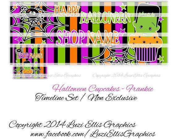 Halloween Cupcakes  Frankenstein Facebook by LuziEllisGraphics