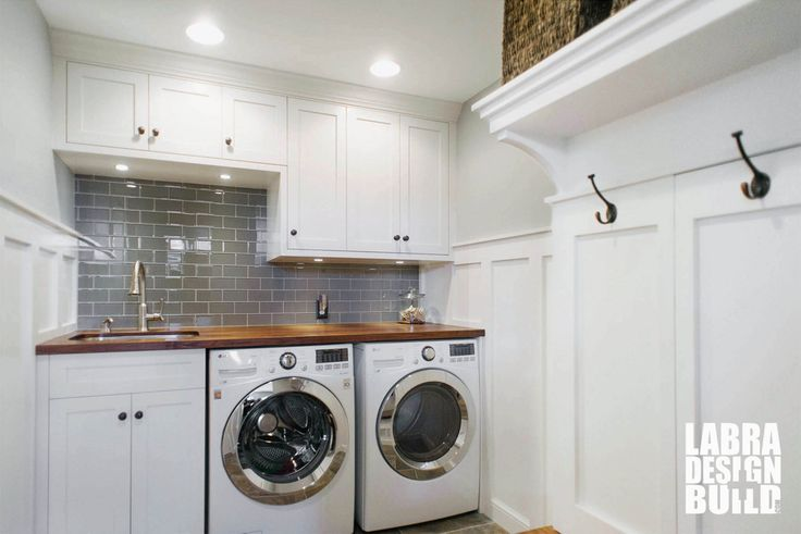 12 best images about mudrooms on pinterest white shaker for Laundry room renovation