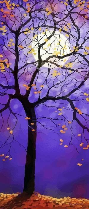 October Night Canvas Print / Canvas Art by Sharon Marcella Marston