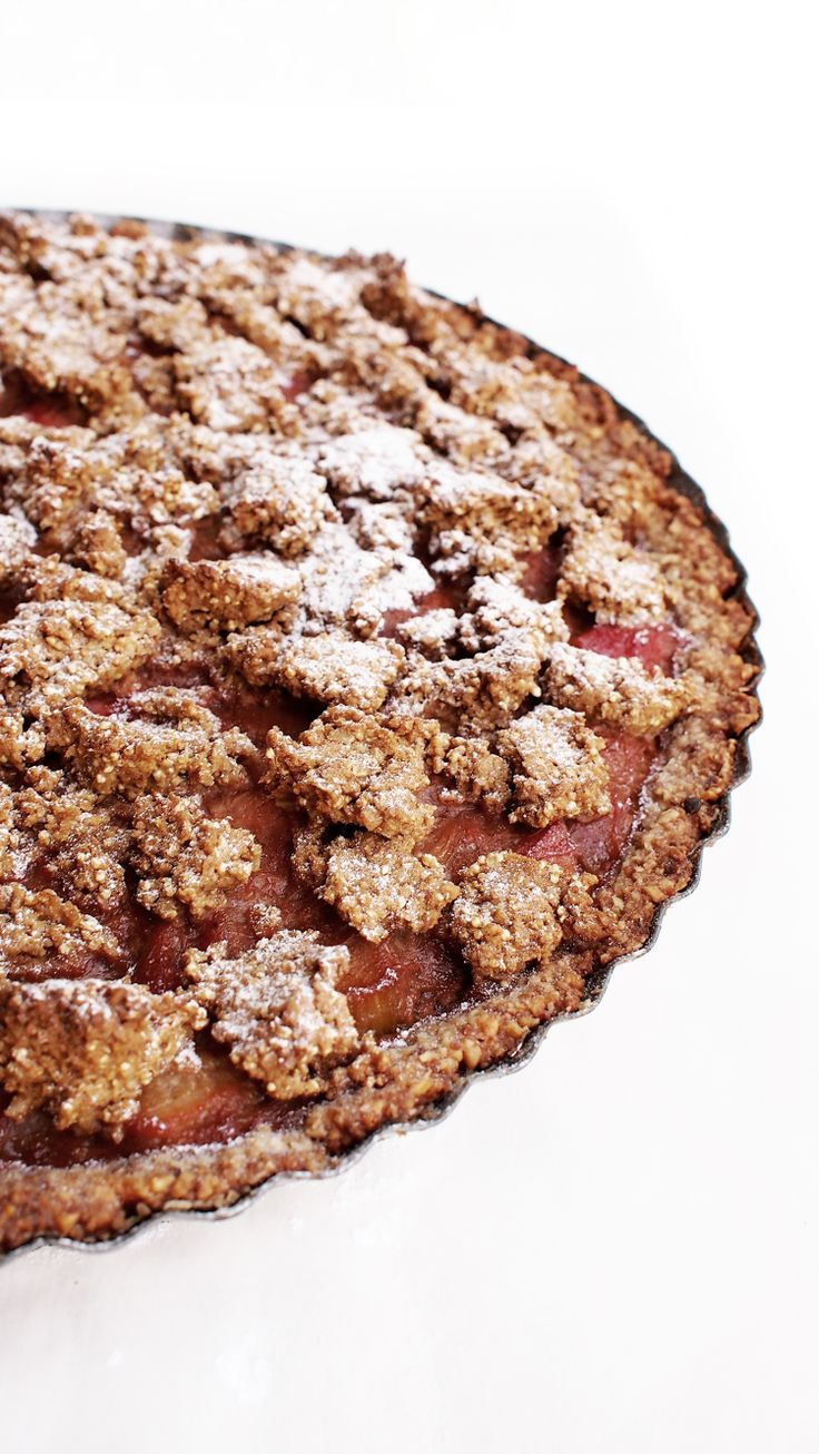 Gluten-free rhubarb tart