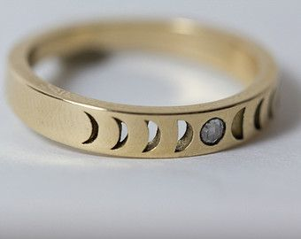 Bisclavret Moonphase Ring in Sterling Silver with by ButchandMiggs