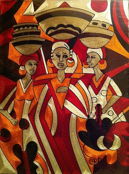 Silk thread contemparary ART FROM GHANA