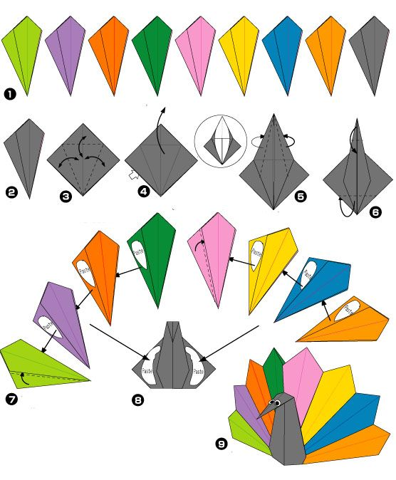 origami pauw2 origami pauw vouwen