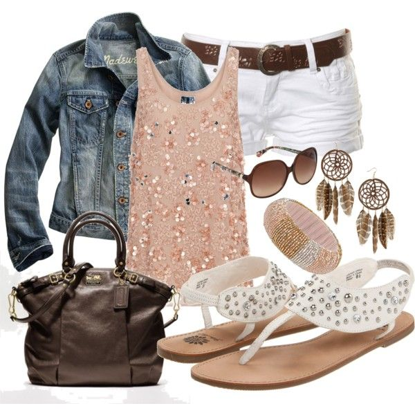 love thissssss :): White Shorts, Style, Fashionista, Dream Closet, Spring Summer, Summer Outfits, Jean Jackets, Summer Clothes, Summer Summer